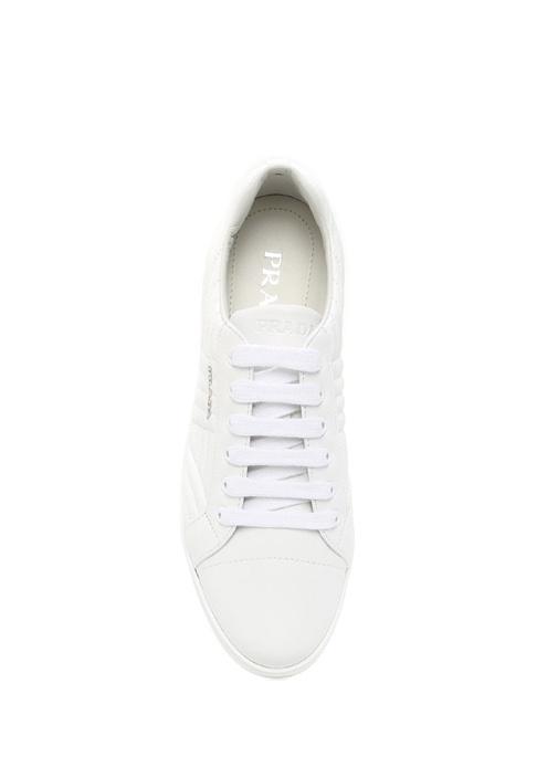 Nappa Beyaz Deri Kadın Sneaker