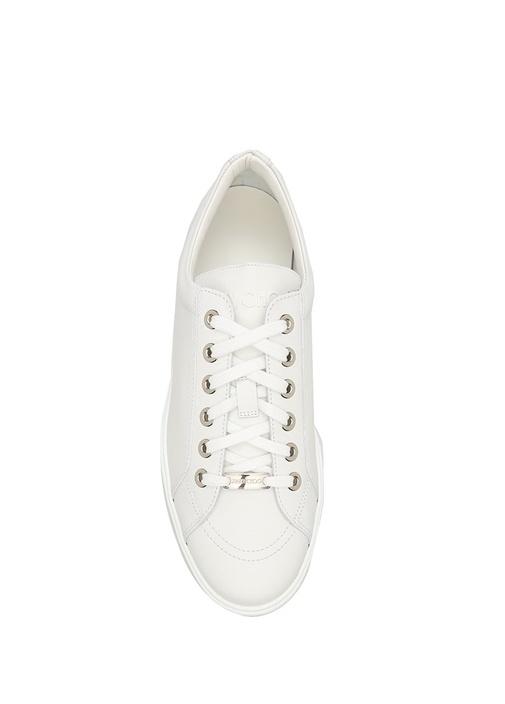 Cash Beyaz Deri Erkek Sneaker