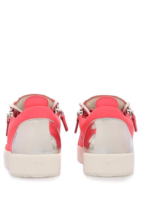 Nicki Pembe Deri Kadın Sneaker