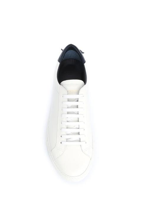 Mavi Beyaz Deri Erkek Sneaker