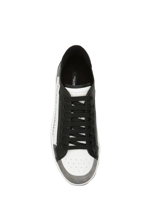 Dolce&Gabbana Siyah-Beyaz ERKEK  Roma Coated Siyah Beyaz Erkek Sneaker 356607 Beymen