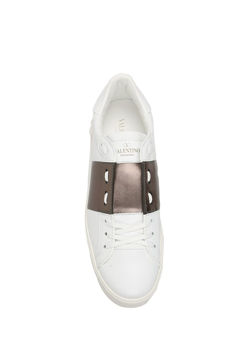 Valentino Garavani Beyaz Kahve Open Kadin Sneaker