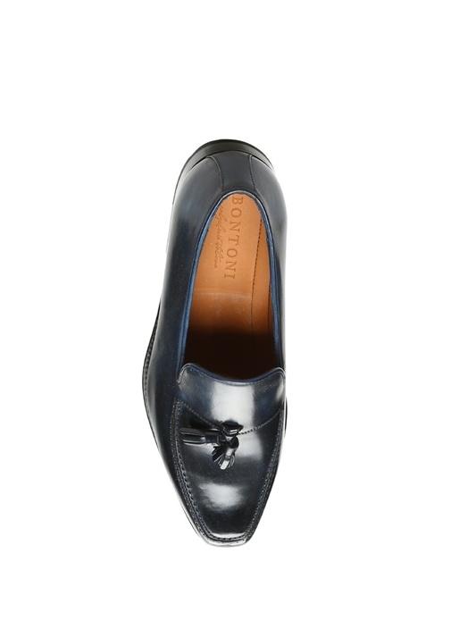 Lacivert Püsküllü Deri Erkek Ayakkabı