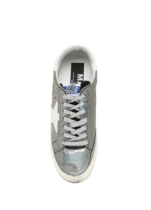 May Gümüş Deri Kadın Sneaker