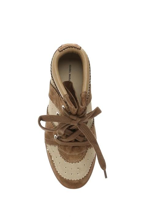 Bilsy Bej Deri Kadın Sneaker