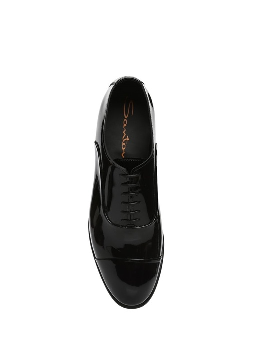 Siyah Rugan Smokin Ayakkabısı