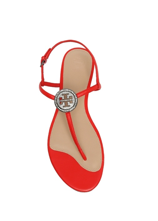 Kırmızı Liana Düz Kadın Sandalet