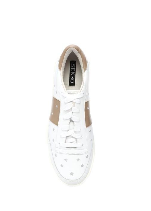Aurora Pembe-Beyaz Deri Kadın Sneaker
