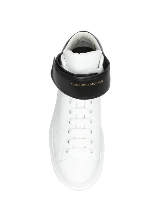 High Top Oversized Deri Beyaz Erkek Sneaker