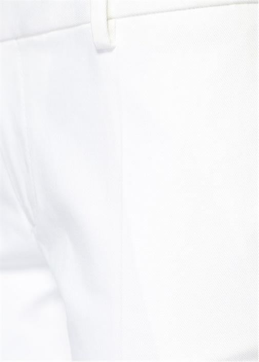 Beyaz Dar Paça Pantolon