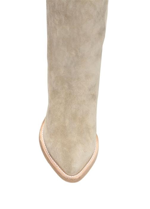 Vizon Süet Uzun Kadın Çizme