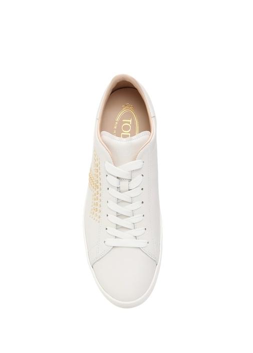 Beyaz Deri Kadın Sneaker