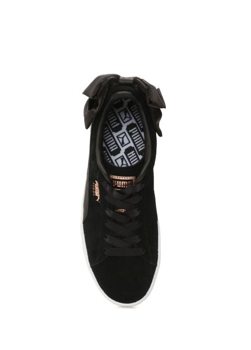 Bow Siyah Fiyonklu Kadın Süet Sneaker