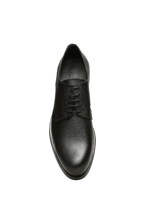 Siyah Bağcıklı Erkek Deri Oxford Ayakkabı