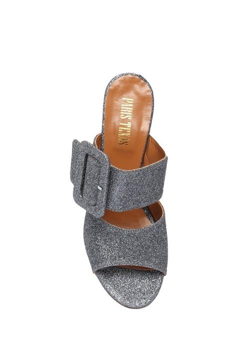 Silver Kemer Detaylı Deri Topuklu Ayakkabı