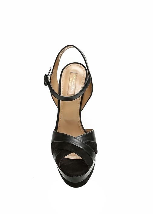 Coquette Siyah Kadın Süet Sandalet