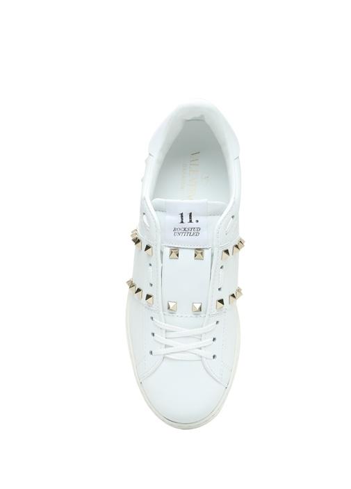 Valentino Garavani Beyaz Erkek Deri Sneaker