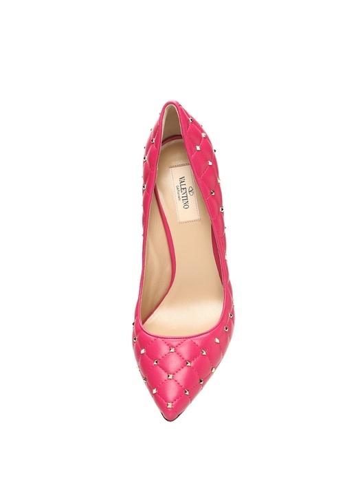 Rockstud Fuşya Topuklu Ayakkabı
