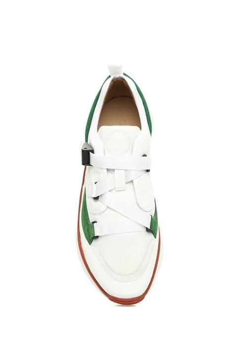 Sonnie Beyaz File Dokulu Kadın Sneaker