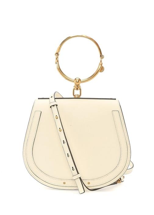 Nil Bracelet Beyaz Kadın Deri Çanta