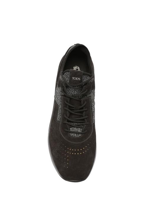 Siyah Gri Melanj Erkek Süet Sneaker