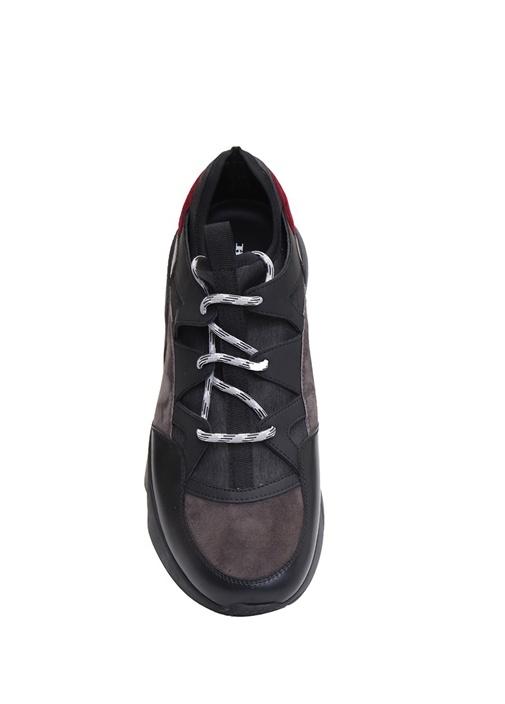 Gri Logolu Bağcık Detaylı Erkek Sneaker