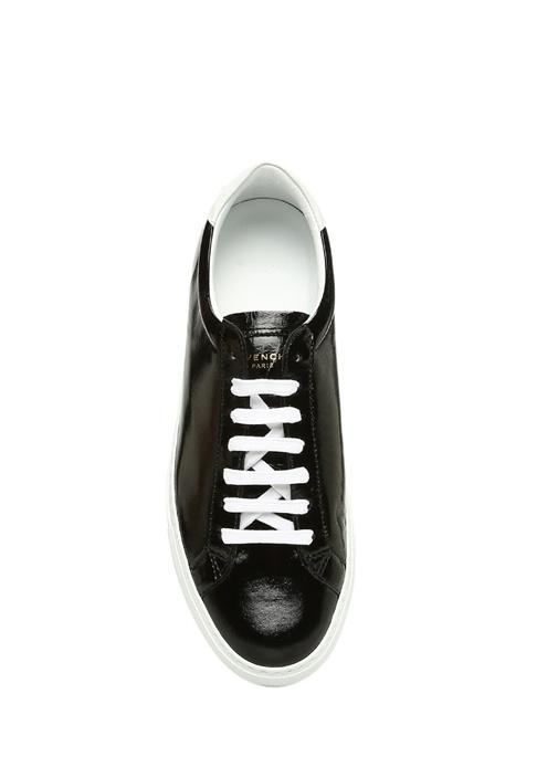 Siyah Bağcıklı Kadın Deri Sneaker