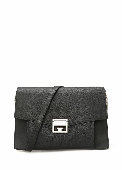 GV3 Siyah Dokulu Kadın Deri Çanta