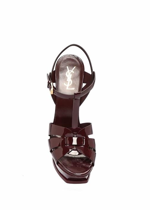Tribute 105 Bordo Kadın Deri Sandalet