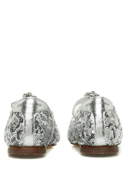 Silver Pul Payet Kız Çocuk Babet