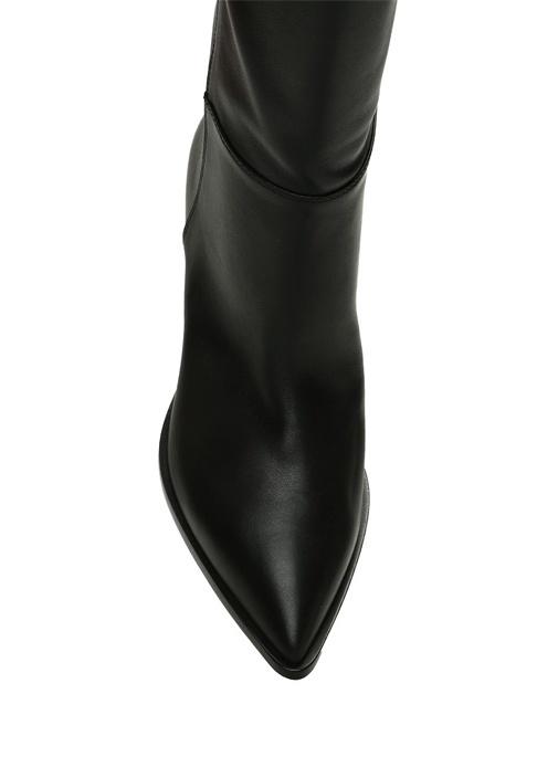 Daenerys Siyah Kadın Deri Çizme