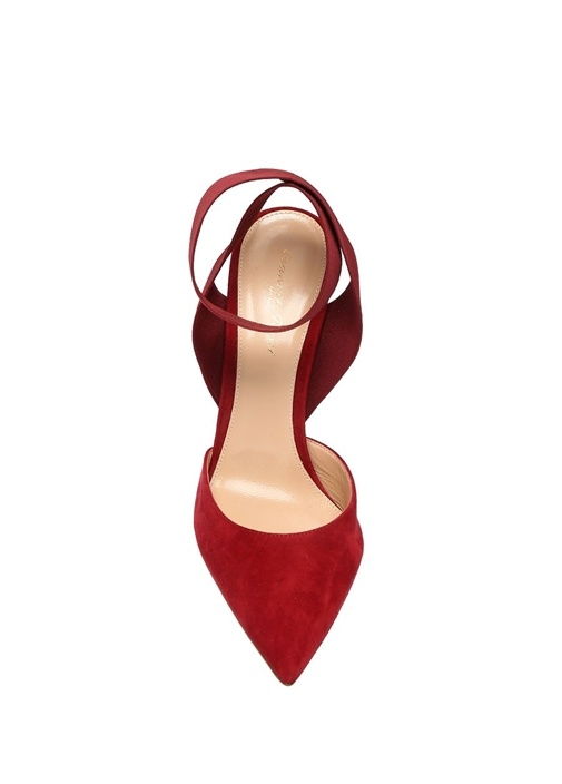 Beryl Bordo Süet Topuklu Ayakkabı