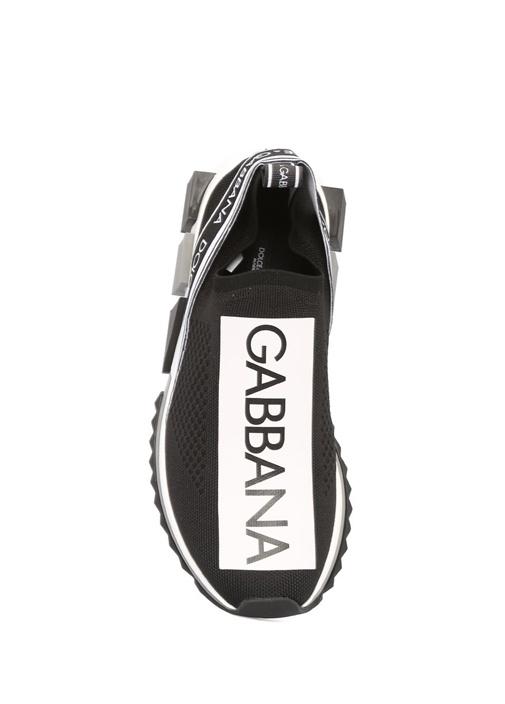 Siyah Logolu Topuk Detaylı Kadın Sneaker