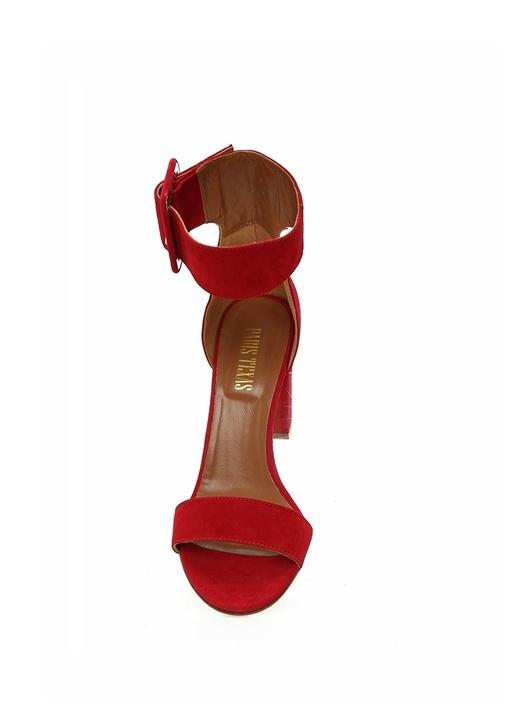 Kırmızı Kadın Süet Sandalet