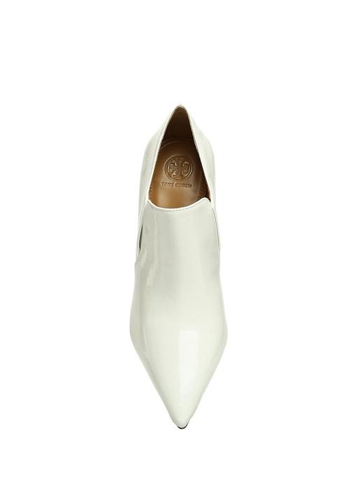 Georgina Beyaz Rugan Kadın Deri Bot