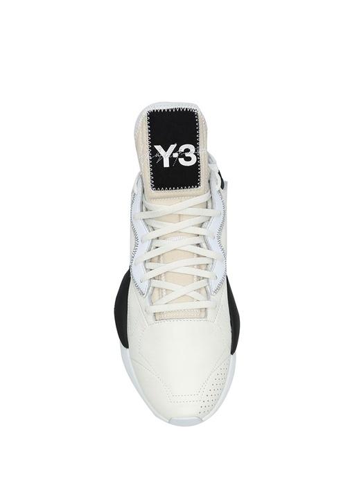 Kaiwa Beyaz Logolu Erkek Deri Sneaker