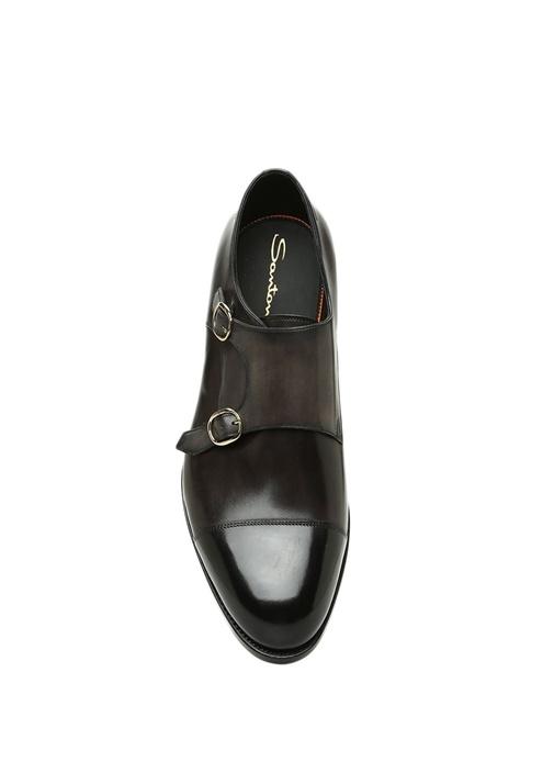 Antrasit Çift Kemerli Erkek Deri Ayakkabı