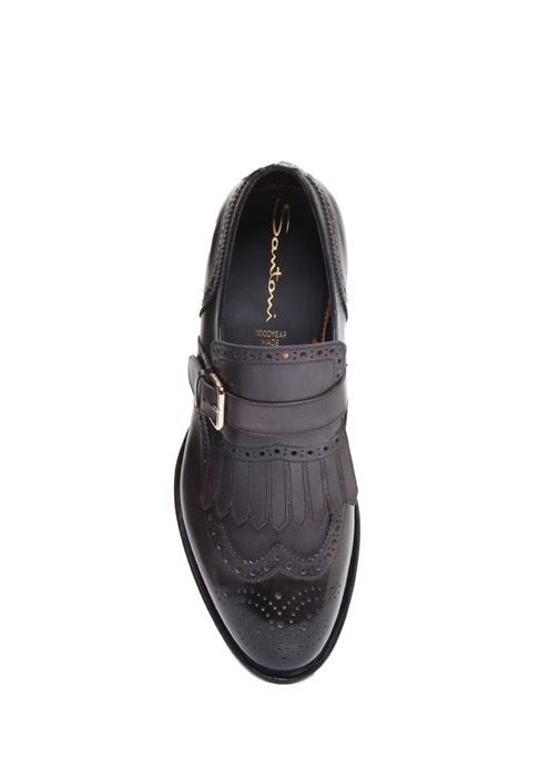 Antrasit Desenli Püsküllü Erkek Deri Ayakkabı
