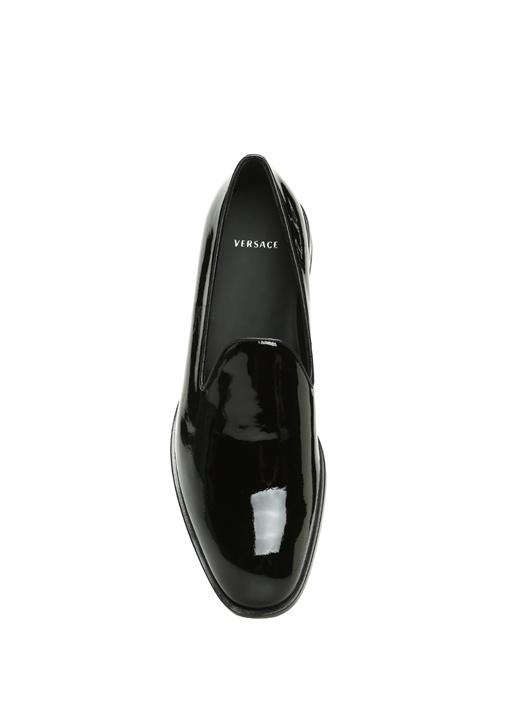 Siyah Topuğu Motifli Deri Smokin Ayakkabısı