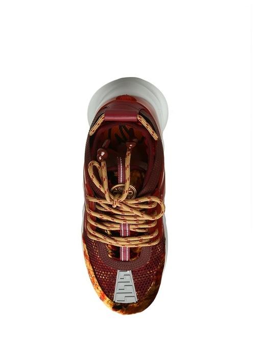 Bordo Kadife Detaylı Erkek Sneaker