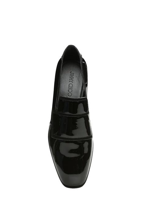 Spencer Siyah Süet Detaylı Deri Smokin Ayakkabısı