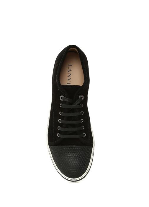 Siyah Önü Dokulu Erkek Süet Sneaker