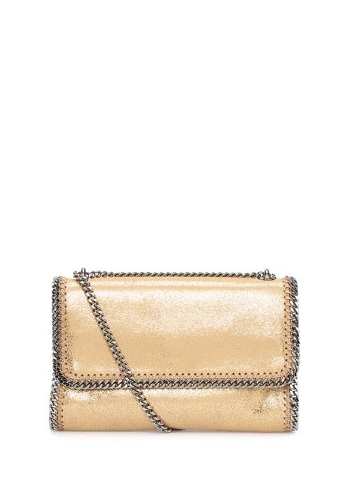 Fababella Gold Parlak Dokulu Kadın Çanta