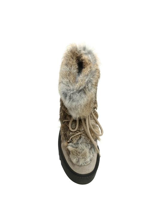 Vizon Gizli Topuklu Kadın Süet Kar Botu