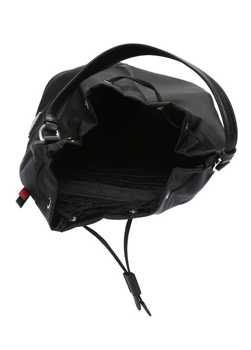 Siyah Metal Patchli Kadın Çanta