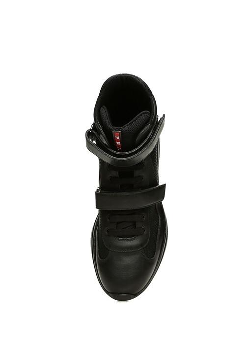 Siyah File Dokulu Erkek Sneaker