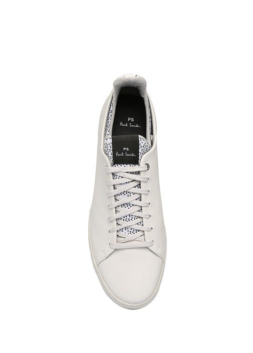 Sonix Beyaz Logolu Erkek Deri Sneaker