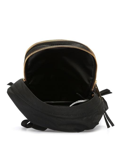 Siyah Logolu Kadın Sırt Çantası