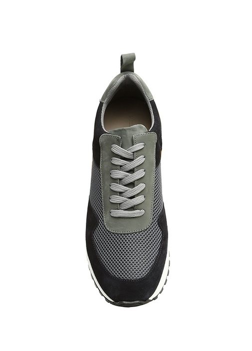 Vest Mavi Colorblocked Erkek Süet Sneaker