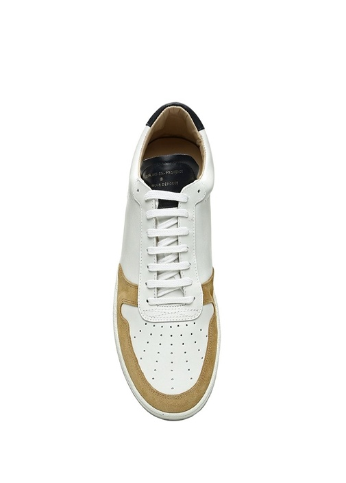 Zsp 23 Beyaz Erkek Deri Sneaker